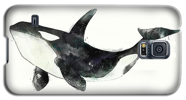 Whale Galaxy S5 Case - Orca From Arctic And Antarctic Chart by Amy Hamilton