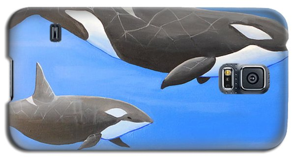 Orca With Baby Galaxy S5 Case