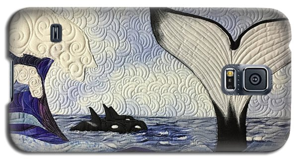 Orcas At Play Galaxy S5 Case
