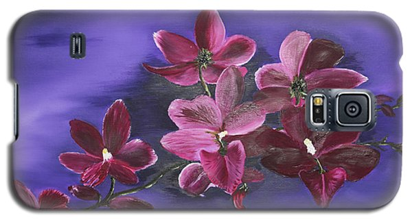 Orchid Blossoms On A Stem Galaxy S5 Case