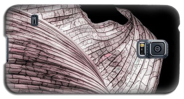 Orchid Galaxy S5 Case - Orchid Leaf Macro by Tom Mc Nemar
