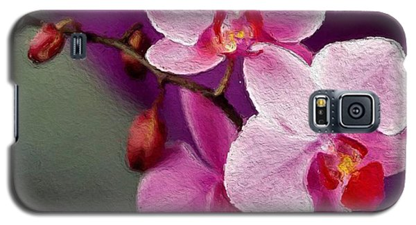 Orchids In Violets Galaxy S5 Case