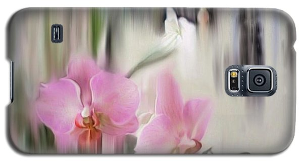 Orchids With Dragonflies Galaxy S5 Case
