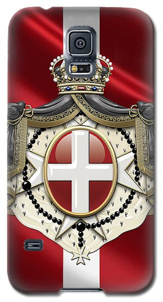 Order Of Malta Coat Of Arms Over Flag Galaxy S5 Case by Serge Averbukh