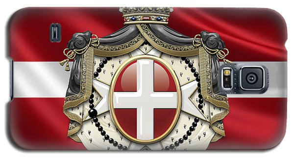 Patriotic Galaxy S5 Case - Order Of Malta Coat Of Arms Over Flag by Serge Averbukh