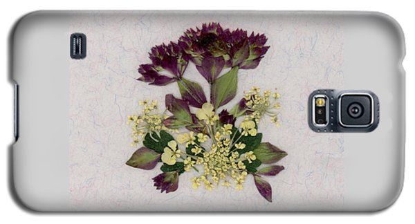 Oregano Florets And Leaves Pressed Flower Design Galaxy S5 Case