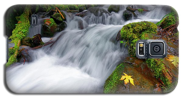 Galaxy S5 Case featuring the photograph Oregon Cascade by Jonathan Davison