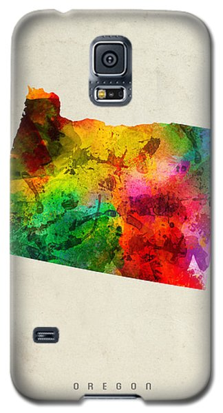 Oregon State Map 01 Galaxy S5 Case by Aged Pixel