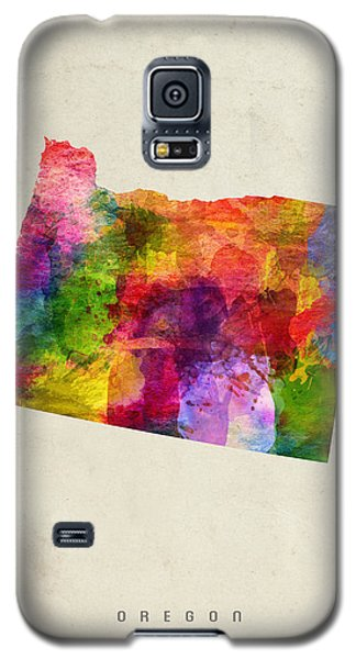 Oregon State Map 02 Galaxy S5 Case by Aged Pixel
