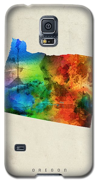 Oregon State Map 03 Galaxy S5 Case by Aged Pixel
