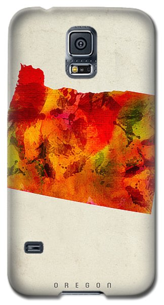 Oregon State Map 04 Galaxy S5 Case by Aged Pixel