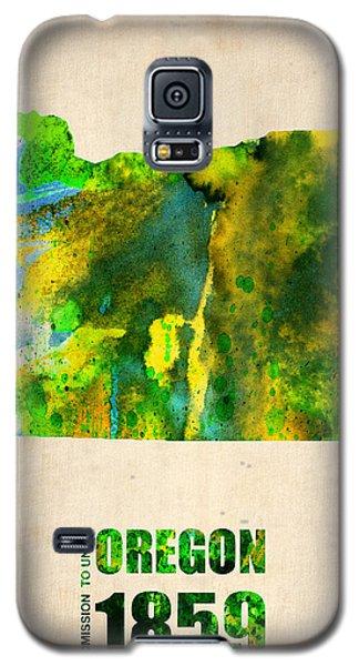 Oregon Watercolor Map Galaxy S5 Case by Naxart Studio