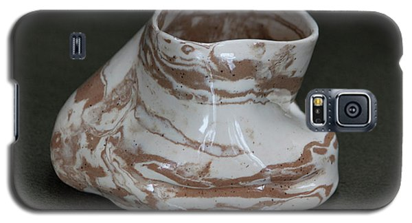 Organic Marbled Clay Ceramic Vessel Galaxy S5 Case by Suzanne Gaff