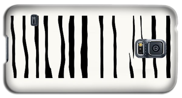 Organic No 12 Black And White Line Abstract Galaxy S5 Case