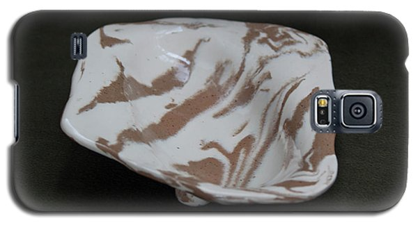 Organic Oval Marbled Ceramic Dish Galaxy S5 Case by Suzanne Gaff