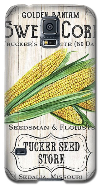 Galaxy S5 Case featuring the painting Organic Seed Packet 4 by Debbie DeWitt