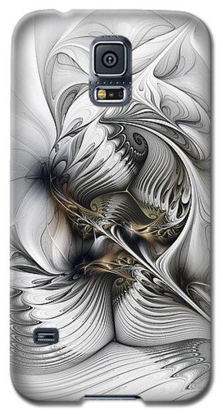 Galaxy S5 Case featuring the digital art Organic Spiral Tower Construction by Karin Kuhlmann