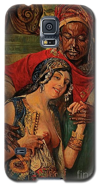 Galaxy S5 Case featuring the painting Orientalisches Paar  by Pg Reproductions