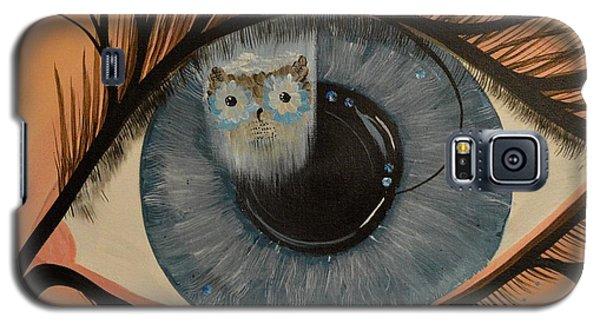 Original Acrylic Artwork By Mimi Stirn - Hoomasters Collection Hoodali #412 Mimi's Self Portrait Galaxy S5 Case