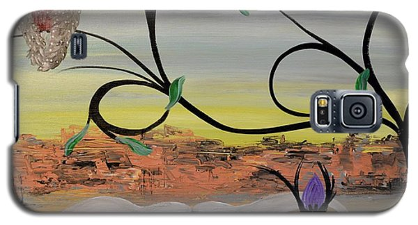 Original Acrylic Artwork By Mimi Stirn - Hoomasters Collection -hooo'keeffe #415 Galaxy S5 Case