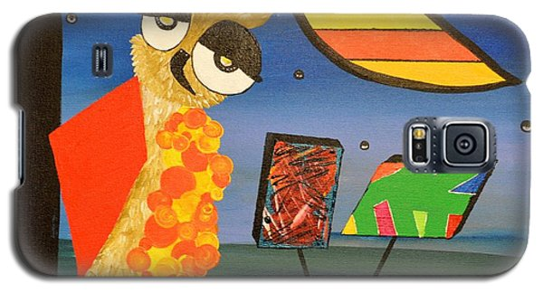 Original Acrylic Artwork By Mimi Stirn - Hoomasters Collection - Hoopicasso #410 Galaxy S5 Case