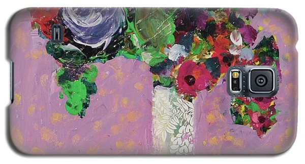 Galaxy S5 Case featuring the painting Original Bouquetaday Floral Painting 12x12 On Canvas, By Elaine Elliott, 59.00 Incl. Shipping by Elaine Elliott