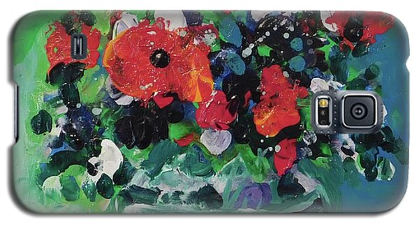 Original Bouquetaday Floral Painting By Elaine Elliott, Blues And Greens, 12x12, 59.00 Incl. Shippin Galaxy S5 Case