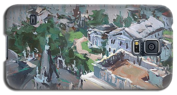 Galaxy S5 Case featuring the painting Original Contemporary Cityscape Painting Featuring Virginia State Capitol Building by Robert Joyner