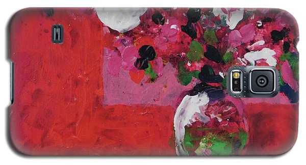 Original Floral Painting By Elaine Elliott, 12x12 Acrylic And Collage, 59.00 Incl. Shipping, Contemp Galaxy S5 Case