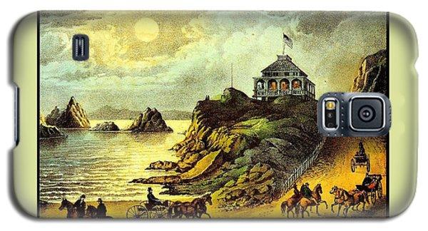 Original San Francisco Cliff House Circa 1865 Galaxy S5 Case by Peter Gumaer Ogden