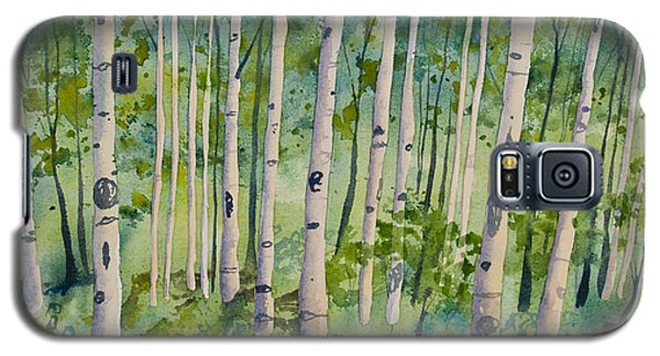 Original Watercolor - Summer Aspen Forest Galaxy S5 Case