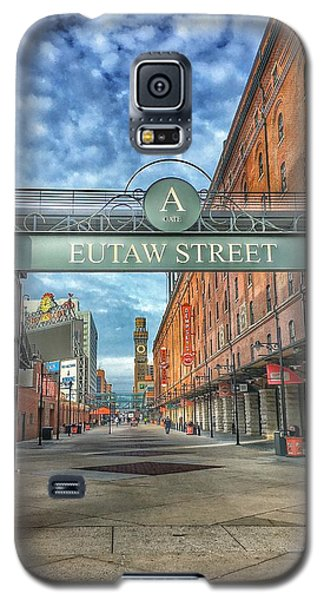 Galaxy S5 Case featuring the photograph Oriole Park At Camden Yards - Eutaw Street Gate by Marianna Mills