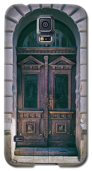 Ornamented Wooden Gate In Violet Tones Galaxy S5 Case by Jaroslaw Blaminsky