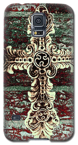 Ornate Cross 1 Galaxy S5 Case by Angelina Vick