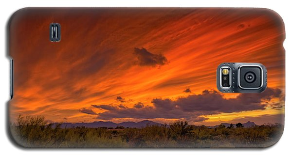 Galaxy S5 Case featuring the photograph Oro Valley Sunset H6 by Mark Myhaver