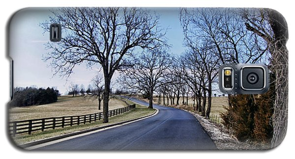 Galaxy S5 Case featuring the photograph Osage County Road by Cricket Hackmann
