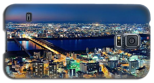 Osaka Night Rooftop View Galaxy S5 Case