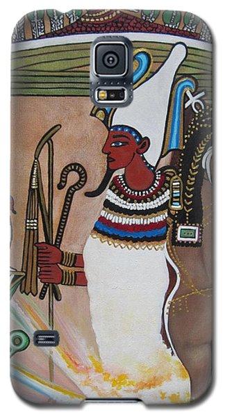 Blaa Kattproduksjoner         Osiris With Goddess Isis And 4 Grandkids Galaxy S5 Case