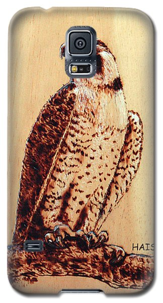 Galaxy S5 Case featuring the pyrography Osprey 2 by Ron Haist