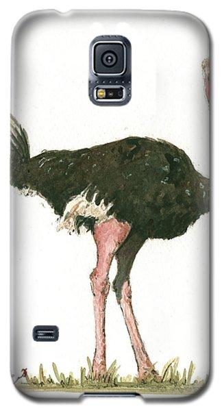 Ostrich Bird Galaxy S5 Case by Juan Bosco