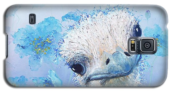 Ostrich In A Field Of Poppies Galaxy S5 Case by Jan Matson
