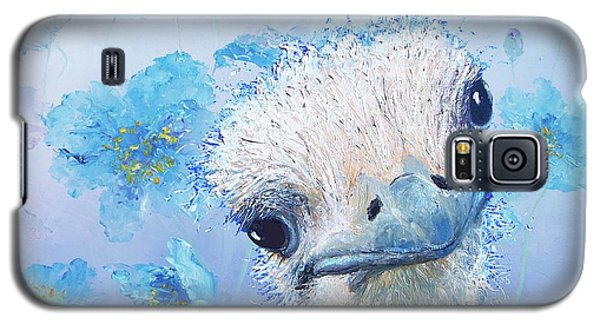 Ostrich In A Field Of Poppies Galaxy S5 Case