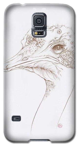 Ostrich Galaxy S5 Case by Karen Robey