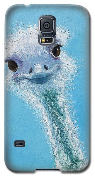 Ostrich Painting Galaxy S5 Case by Jan Matson