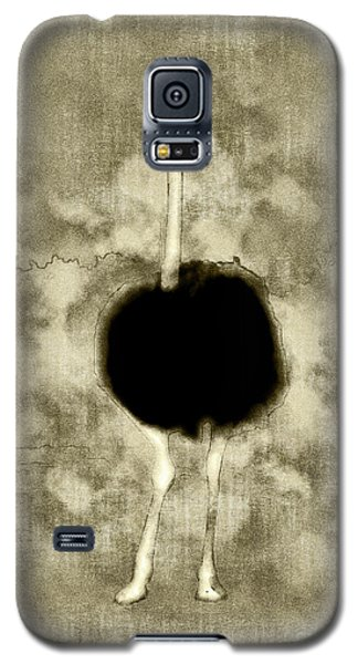 Ostrich Portrait Galaxy S5 Case by Methune Hively