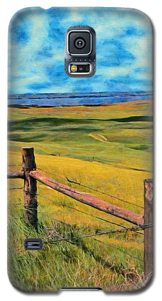 Galaxy S5 Case featuring the painting Other Side Of The Fence by Jeff Kolker
