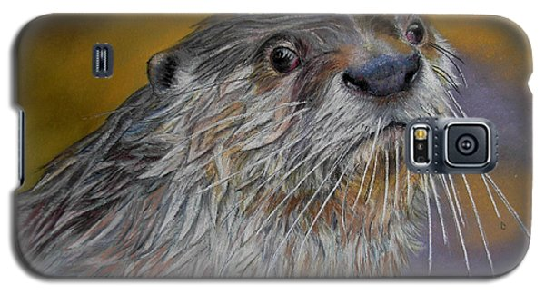 Galaxy S5 Case featuring the painting Otter Or Not by Ceci Watson