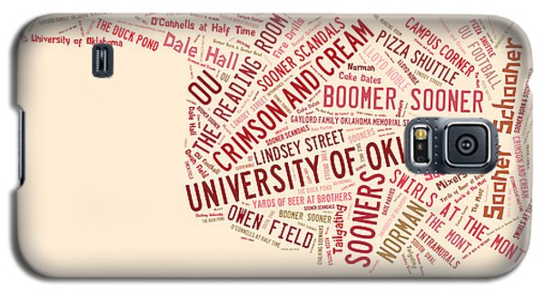 Ou Word Art University Of Oklahoma Galaxy S5 Case by Roberta Peake