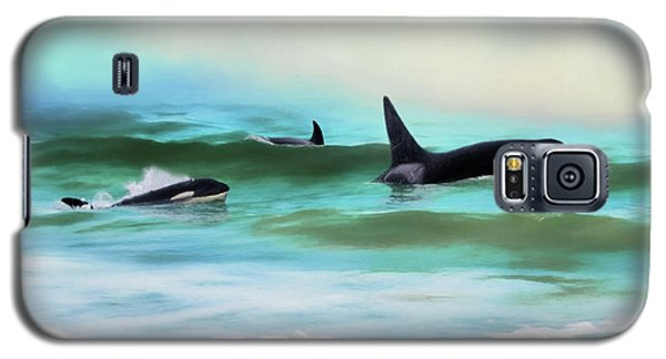 Our Family - Orca Whale Art Galaxy S5 Case