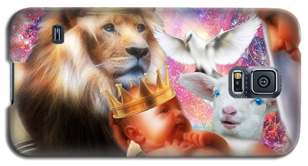 Galaxy S5 Case featuring the digital art Our Saviors Birth by Dolores Develde